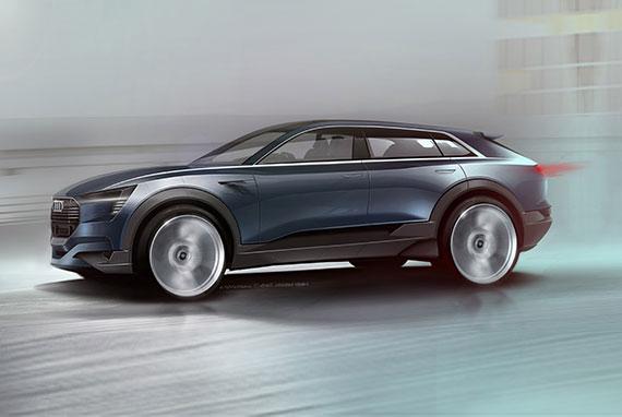 フランクフルトモーターショーにAudi e-tron quattro conceptを出展